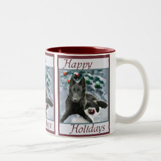 Belgian Sheepdog Christmas Gifts Two-Tone Coffee Mug