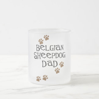 Belgian Sheepdog Dad Frosted Glass Coffee Mug