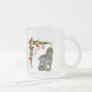 Belgian Sheepdog Frosted Glass Coffee Mug