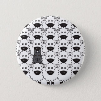 Belgian Sheepdog in the Sheep 2 Inch Round Button