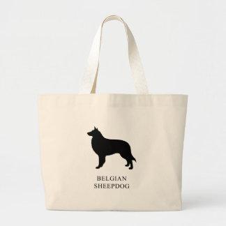 Belgian Sheepdog Large Tote Bag