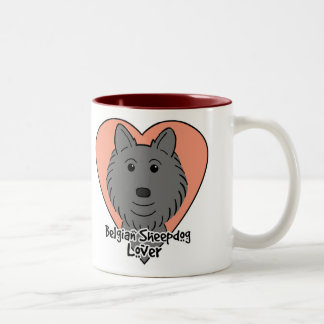 Belgian Sheepdog Lover Two-Tone Coffee Mug