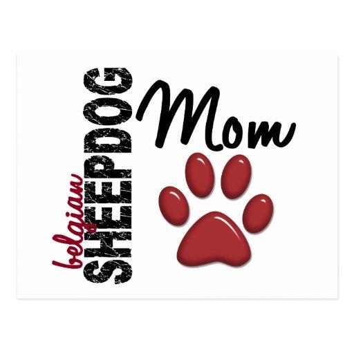 Belgian Sheepdog Mom 2 Postcards