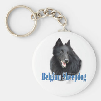 Belgian Sheepdog Name Keychain