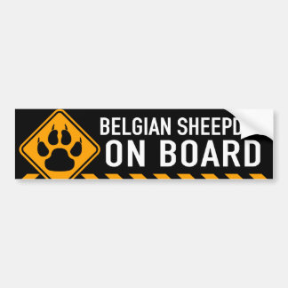 Belgian Sheepdog On Board Bumper Sticker