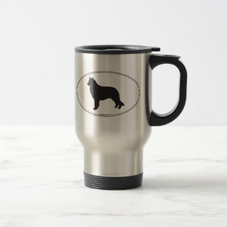 Belgian Sheepdog Silhouette Travel Mug