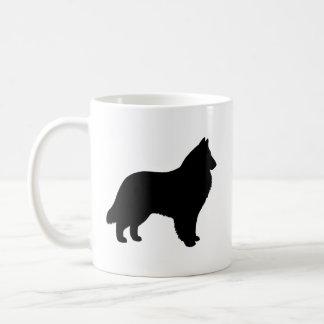 Belgian Sheepdog Silhouettes Coffee Mug