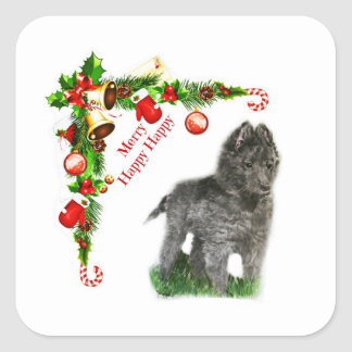 Belgian Sheepdog Square Sticker