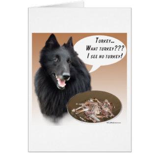 Belgian Sheepdog Turkey Card