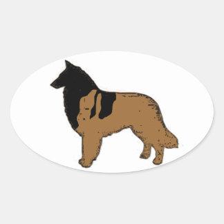 Belgian Shepherd / Belgian Tervuren Oval Sticker