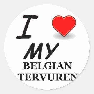 Belgian Shepherd / BelgianTervuren Round Sticker