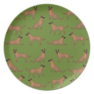 Belgian shepherd dog party plates