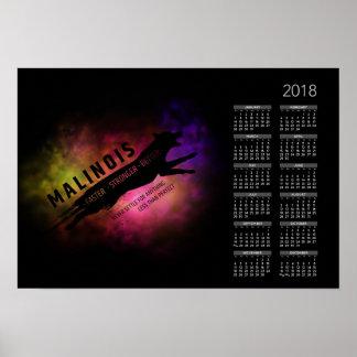 Belgian shepherd - Malinois  Calendar 2018 Poster