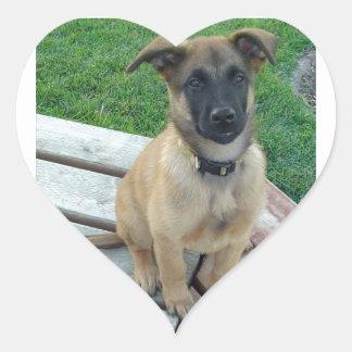 Belgian Shepherd Malinois Dog Heart Sticker