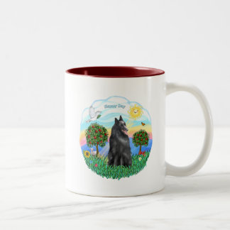 Belgian Shepherd / Sheepdog Two-Tone Coffee Mug