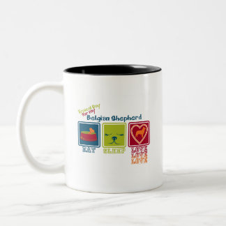 Belgian Shepherd Two-Tone Coffee Mug