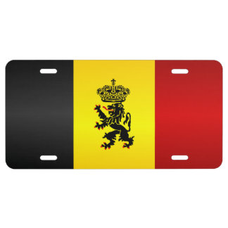 Belgian State Ensign License Plate
