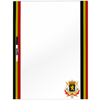 Belgian stripes flag dry erase board