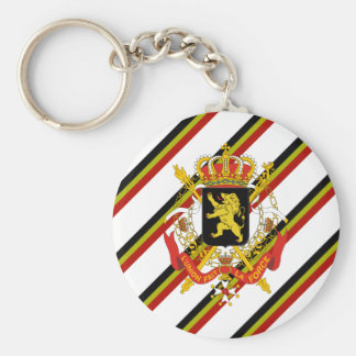 Belgian stripes flag keychain