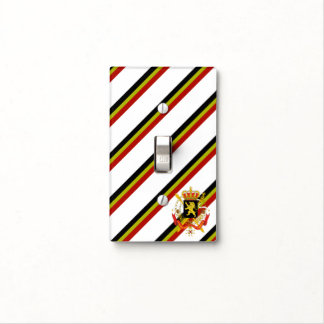Belgian stripes flag light switch cover