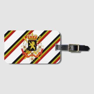 Belgian stripes flag luggage tag