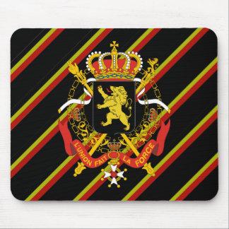 Belgian stripes flag mouse pad