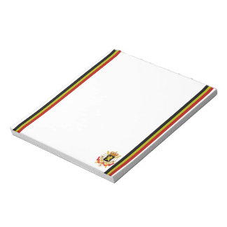 Belgian stripes flag notepad
