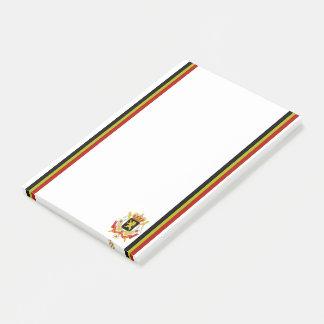 Belgian stripes flag post-it notes