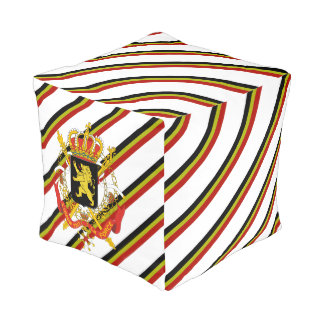 Belgian stripes flag pouf