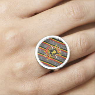 Belgian stripes flag rings