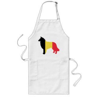 belgian teruvian flag silhouette long apron