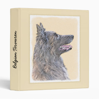 Belgian Tervuren 2 Painting - Original Dog Art 3 Ring Binders