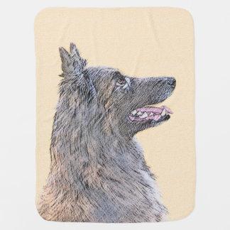 Belgian Tervuren 2 Painting - Original Dog Art Baby Blanket