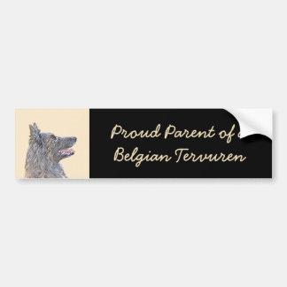 Belgian Tervuren 2 Painting - Original Dog Art Bumper Sticker