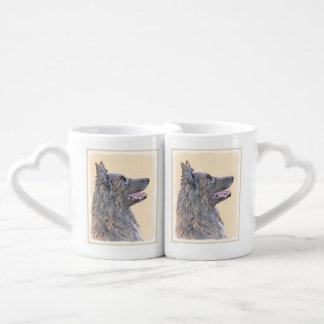 Belgian Tervuren 2 Painting - Original Dog Art Coffee Mug Set