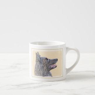 Belgian Tervuren 2 Painting - Original Dog Art Espresso Cup