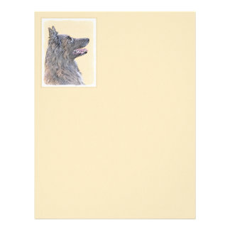Belgian Tervuren 2 Painting - Original Dog Art Letterhead