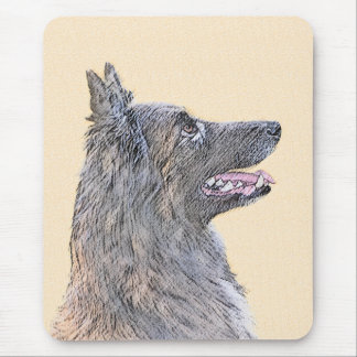 Belgian Tervuren 2 Painting - Original Dog Art Mouse Pad