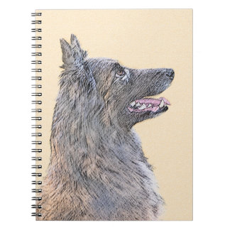 Belgian Tervuren 2 Painting - Original Dog Art Notebook