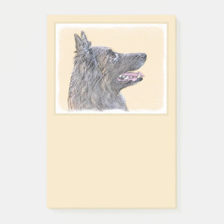 Belgian Tervuren 2 Painting - Original Dog Art Post-it Notes
