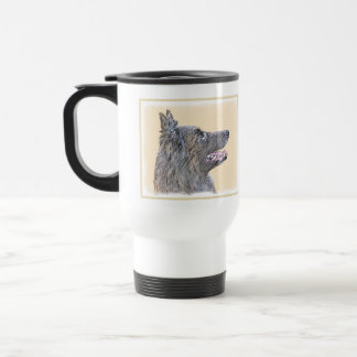 Belgian Tervuren 2 Painting - Original Dog Art Travel Mug