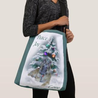 Belgian Tervuren Christmas Crossbody Bag