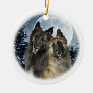 Belgian Tervuren Christmas Ornament