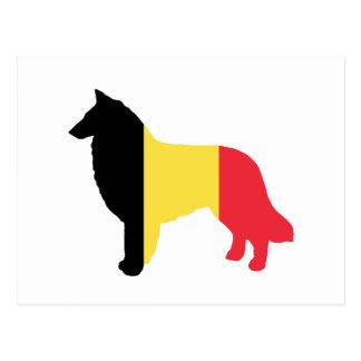 belgian tervuren flag silhouette post cards