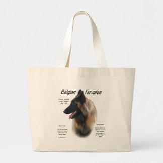 Belgian Tervuren History Design Large Tote Bag