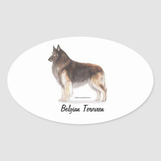 Belgian Tervuren Oval Sticker