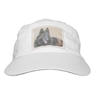 Belgian Tervuren Painting - Cute Original Dog Art Hat
