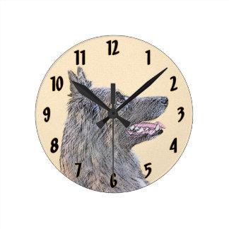 Belgian Tervuren Round Clock