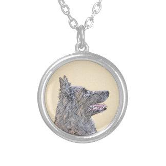 Belgian Tervuren Silver Plated Necklace