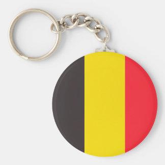 Belgian three colour of Belgium key-ring Basic Round Button Keychain